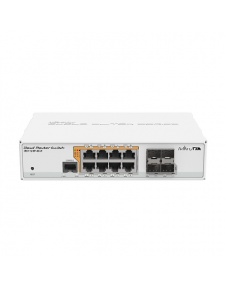 MikroTik Cloud Router Switch CRS112-8P-4S-IN SFP ports quantity 4, Desktop, Dual Power Suply: 28V 3.4V included. (Optional addit