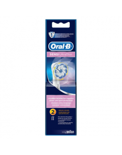 Oral-B Sensitive EB60-2 Warranty 24 month(s), For adults, Heads, Number of brush heads included 2