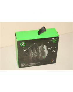 SALE OUT. Razer Naga Trinity - Multi-color Wired MMO Gaming Mouse Razer Naga Trinity, DAMAGED PACKAGING