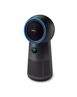 Philips Air Purifier 3 in 1 AMF220/15 Fan 7.5-15-25 Heating 1250-1500-2200 W, Suitable for rooms up to 42 m², Black