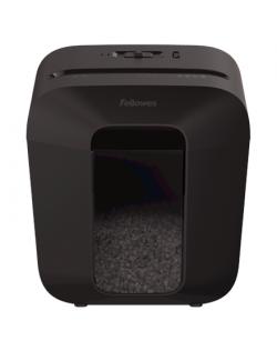 Fellowes Powershred LX25M Black, 11.5 L, Credit cards shredding, Mini-Cut Shredder, Paper handling standard/output 6 sheets per