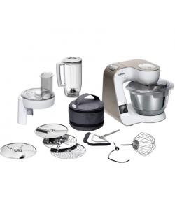 Bosch Kitchen machine MUM5XW20 1000 W, Number of speeds 7, Bowl capacity 3.9 L, White/Champagne