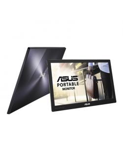 "Asus Portable USB Type-C LCD MB169C+ 15.6 "", IPS, FHD, 1920 x 1080 pixels, 16:9, 220 cd/m², Black, Silver, Flicker Free, Blue Li"