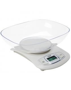 Adler AD 3137 Kitchen scales, Capacity 5 kg , Graduation 1g, Big LCD Display, Auto-zero/Auto-off, Large bowl, White Adler Adler