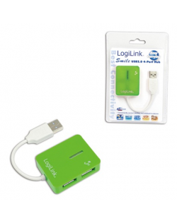 Logilink USB 2.0 Hub 4-Port, Smile, Green