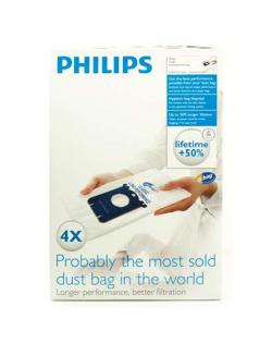 Philips disposable dust bag FC8021/03 Dust Bag 4pcs, • AirStar: FC8220 - FC8229• City-Line: FC8400 - FC8439, HR8368 - HR8378• Ea