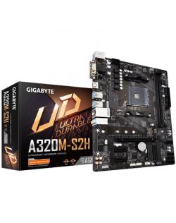Gigabyte GA-A320M-S2H 3.0 Processor family AMD, Processor socket AM4, DDR4 DIMM, Memory slots 2, Number of SATA connectors 4 x S