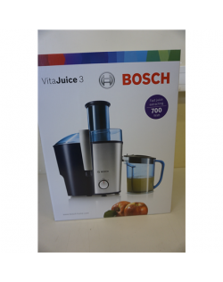 SALE OUT. Bosch MES3500 Juicer, 700W, Pulp container 2L, XL feeding tube, Juice container 1.25L, Silver/Blue Bosch Juicer MES350