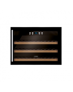 Caso Wine cooler WineSafe 18 EB Energy efficiency class G, Built-in, Bottles capacity Up to 18 bottles, Cooling type Compressor