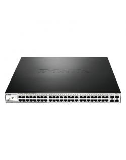 D-Link Switch DGS-1210-52MP Web Management, Rack mountable, 1 Gbps (RJ-45) ports quantity 48, SFP ports quantity 4, PoE ports qu