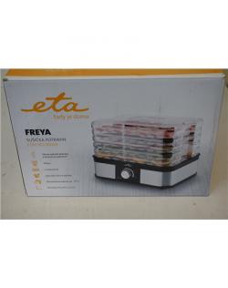 SALE OUT. ETA ETA530190000 Freya Food dryer, 245W, LED Dispaly, 5 drying plates, black/stainless steel ETA Food Dryer Freya ETA530190000 Power 245 W, Number of trays 5, Temperature control, Stainless steel, DEMO, SMALL CRACK ON COVER