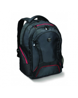 """Port Designs Courchevel Fits up to size 17.3 """", Black, Waterproof cover, Shoulder strap, Backpack"""