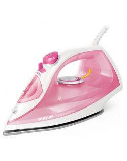 Philips Iron EasySpeed Plus Rose/ white, 2000 W, Steam iron, Continuous steam 25 g/min, Steam boost performance 100 g/min, Anti-