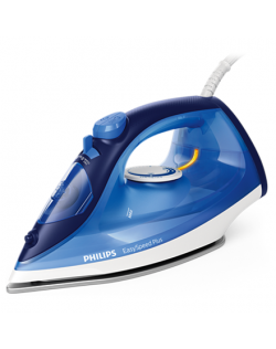 Philips Iron EasySpeed Plus Blue, 2100 W, Steam iron, Continuous steam 30 g/min, Steam boost performance 110 g/min, Anti-drip fu