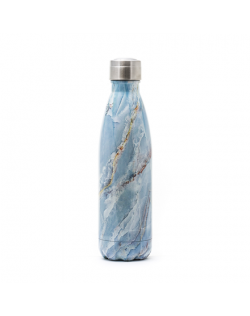 Yoko Design Isothermal Bottle Marble blue, Capacity 0.5 L, Diameter 6.5 cm, Dishwasher proof