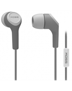 Koss Headphones KEB15iG In-ear, 3.5mm (1/8 inch), Microphone, Grey,