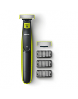 Philips Shaver QP2520/30 OneBlade Charging time 8 h, Wet use, NiMH, Number of shaver heads/blades 2, Lime green/Grey