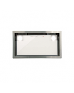 CATA Hood GC DUAL A 75 XGWH /D Energy efficiency class A, Canopy, Width 75 cm, 820 m³/h, Touch control, White glass/stainless st