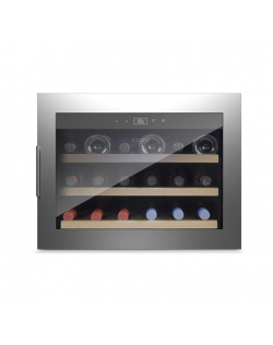 Caso Wine cooler WineSafe 18 EB Built-in, Bottles capacity Up to 18 bottles, Cooling type Compressor technology, Stainless steel