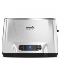 Caso Toaster Inox² Stainless steel, Stainless steel, 1050 W, Number of slots 2, Number of power levels 9, Bun warmer included