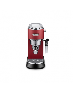 Delonghi Dedica Espresso Coffee Maker EC685.R Pump pressure 15 bar, Built-in milk frother, Semi-automatic, 1300 W, Red
