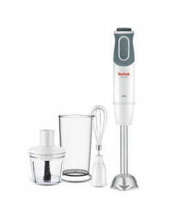 TEFAL Optichef 3-in-1 HB643138 Hand Blender, 800 W, Number of speeds 20, White/ gray
