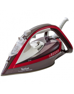 TEFAL Turbo Pro Iron FV5635E0 Bordo, 2600 W, Steam iron, Continuous steam 50 g/min, Steam boost performance 200 g/min, Anti-drip