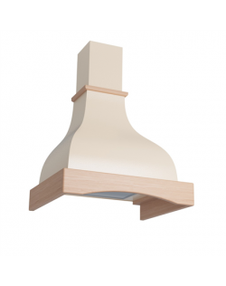 Eleyus Hood Solo Country 750 Wall mounted, Energy efficiency class D, Width 60 cm, 371 m³/h, Mechanical control, LED, Beige