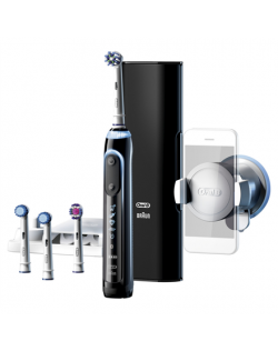 Oral-B Toothbrush Genius 10100S For adults, Rechargeable, Teeth brushing modes 6, Number of brush heads included 4, Black