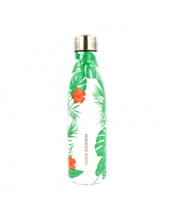 Yoko Design Isothermal Bottle Tropical Green, Capacity 0.5 L, Diameter 6.5 cm, Bisphenol A (BPA) free