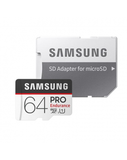 Samsung PRO Endurance 64 GB, MicroSDXC, Flash memory class 10, Adapter