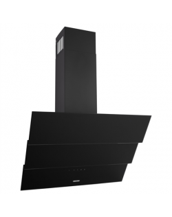 Eleyus Hood FNA S L 14 150 60 BL Wall mounted, Energy efficiency class E, Width 60 cm, 317 m³/h, Touch control, LED, Black glass