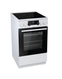 Gorenje Cooker EC5351WA Hob type Vitroceramic, Oven type Electric, White, Width 50 cm, Electronic ignition, 70 L, Depth 60 cm